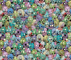 zombies_everywhere fabric by id_designs on Spoonflower - custom fabric