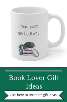 """"""" I read past my bedtime"""". This mug is a great gift for readers or a sweet Christmas gift for teen girls or women. It's funny quote and watercolor design makes it a sweet addition to your mug collection!"""