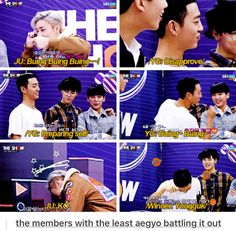BAP's aegyo battles are the besssstttttt.... Yongguk though XD