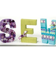 Sew Decorative Letters | #DIY Wall Decor Project | Supplies available at Joann.com or Jo-Ann Fabric and Craft Stores