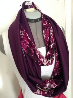 Two Toned Fashion Infinity Scarf by AmshinaApparel on Etsy