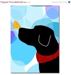 Black Labrador Retriever   via Etsy.