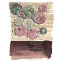 The meal #messy-tables #food-illustration #nothing-is-ordinary #lifestyle-illustration