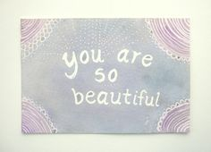 Yes you are. (Love this sweet painting!) :: Original watercolor painting Light blue and purple by PoofyDove