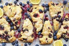 Fresh blueberry scones for breakfast. Fresh Blueberry Scones Recipe, Cinnamon Scones, Apple Cinnamon, Cinnamon Chips, Cranberry Orange Scones, Cream Tea, Thing 1, King Arthur Flour, Bon Appetit