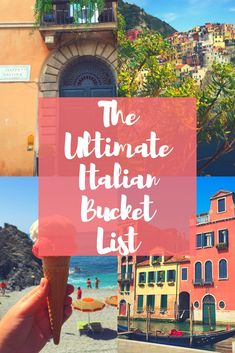 The Ultimate Italian Bucket List! Oh Italy, a country filled with historic architecture, charming streets and the most delicious cuisine. This country truly has something to offer everyone. After traveling there 3 times, I can safely say it's my favorite place in the world. During my time in Italy, I got to check off so... View Post