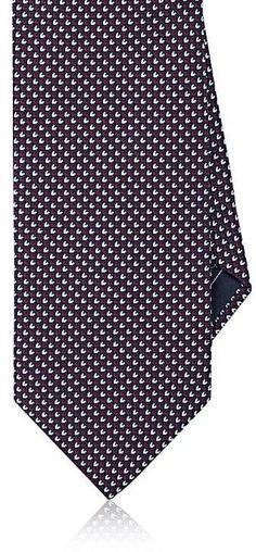 Brioni Men's Birdseye-Weave Silk Necktie