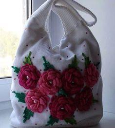 Bayanlar için örgü çanta modeli