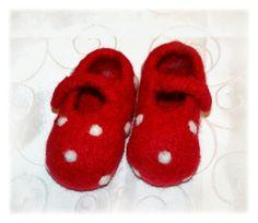 Babyschuhe Kleinkindschuhe Gr. 19/20 *GLÜCKSI*  von  Feludara-Design auf DaWanda.com