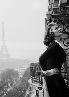 """beauvelvet: """" """"Sophia Loren in Paris, 1956 """" """""""