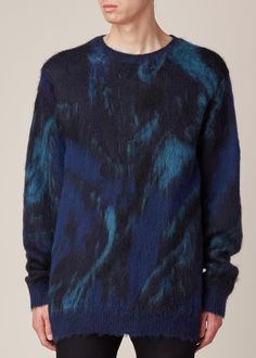 Yohji Yamamoto Marbled Sweater (Navy)