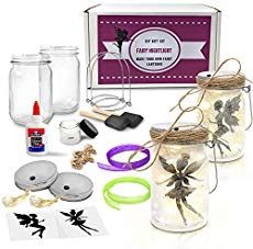 Fairy Nightlight Lantern Craft Kit Pack) - DIY Make Your Own Fairy Lantern Jar - Craft Project for Kids - Great Gift (Fairy Lantern 2 Pack) … *** Continue to the product at the image link. (This is an affiliate link) Jar Crafts, Easter Crafts, Home Crafts, Christmas Crafts, Christmas Animals, Craft Projects For Kids, Craft Kits, Craft Ideas, Diy Crafts Kits