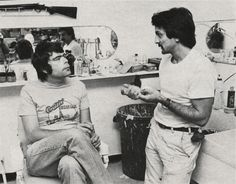 """Stephen King & Tom Savini on the Set of """"Creepshow"""" King Tom, Steven King, Tom Savini, Stephen King Books, 8 Bits, Yearbook Photos, Classic Horror Movies, Classic Monsters, King Of Kings"""