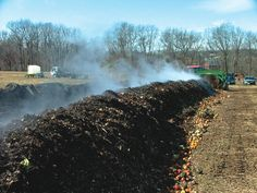 Round fruits and vegetables composting