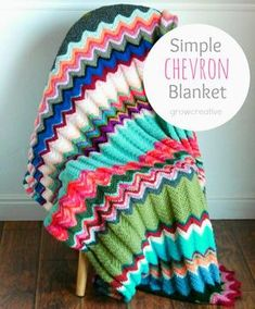 Chevron Blanket Free Crochet Pattern   Free Crochet Patterns