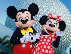 Walt Disney World Resort- Mickey And Minnie Mouse Outside Epcot
