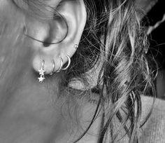 The Double star earring gold