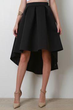 Scuba Box Pleated A-Line Skirt | UrbanOG
