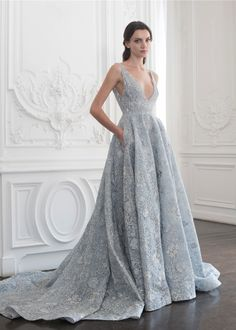 Elegant Dresses, Pretty Dresses, Formal Dresses, Paolo Sebastian Wedding Dress, Valentino Couture, Floral Gown, Fashion Mode, Fashion Pics, Style Fashion