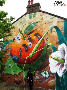Liqen mural In London, UK