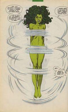 She-Hulk jumping rope by John Byrne   comic books comics