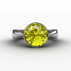 Citrine ring Engagement ring Citrine Silver by TorkkeliJewellery. $290.00 USD, via Etsy.