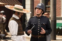 Murdoch Mysteries. This was a funny scene in the t.v. series.