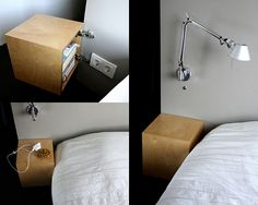 Magic bed side tables DIY
