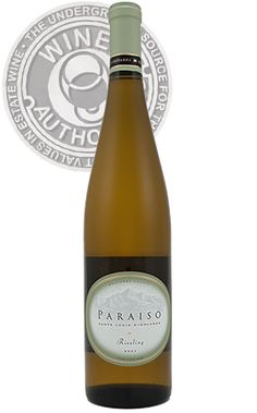 Parasio Riesling, Santa Lucia Highlands, California. Good with vegetarian fare, less spicy foods.
