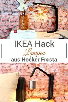 IKEA Hack als Upcycling - aus den nicht mehr benötigten Beinen des Frosta-Hockers haben wir Lampen im Industrie-Style gemacht. Schau dir auch das Video dazu an. Ikea Hack Frosta, Diy Craft Projects, Diy Crafts, Diy Upcycling, Diy Pins, Diy Interior, Joinery, Interiores Design, Diys