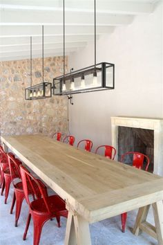 desire to inspire - desiretoinspire.net.  Great combo - the chairs, table and light fixtures...very clean & modern.