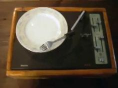 Reconstruction of turntable replacing the pin with a fork and the disk with a dish An almost ready- made piece of art If you want support the artist click he...