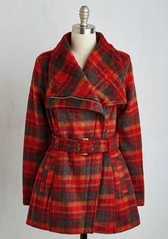 Spice to Meet You Coat. Youll be pleased as punch when this belted Madden Girl coat makes acquaintances with your closet! #red #modcloth