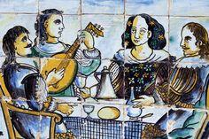 tiles Portugal, Glazed Ceramic Tile, Portuguese Tiles, Mosaic Tiles, Creations, Ceramics, Sculpture, Quilts, Artist