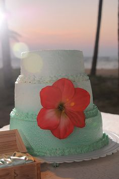 Sunsets on the beach just got tastier! We have tropical wedding cakes to perfectly compliment your beautiful wedding day.