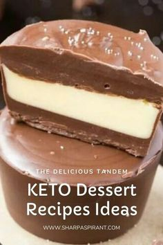 Easy Keto Dessert Recipes – keep your Ketogenic Diet guilt-free while indulging on your sweet cravings! These healthy Keto Desserts are quick to cook; some are no-bake and low carb that will never break your ketosis. Keto Fat Bombs, chocolate, cream cheese, cheesecakes and other pleasures all Keto-friendly! #keto #ketogenic #ketodiet #recipe #desserts #diet #food #dessertfoodrecipes #ketorecipes #lowcarb Quick Easy Desserts, Keto Dessert Easy, Desserts For A Crowd, Low Carb Desserts, Vegan Desserts, Dessert Recipes, Hot Chocolate Ice Cream, Chocolate Roll Cake, Low Carb Chocolate