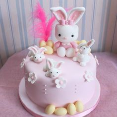 These Easter desserts are ensured to satisfy your sweet tooth. Easter is a jubilant celebration, . Read Easy Sweet Easter Cakes and Desserts Recipe to Make Girly Cakes, Baby Cakes, Cute Cakes, Baby Shower Cakes, Fondant Cakes, Cupcake Cakes, Easter Bunny Cake, Rabbit Cake, Hello Kitty Cake