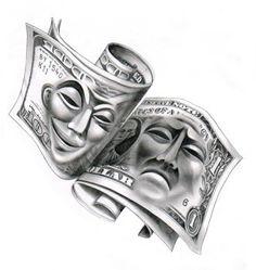 Angels tattoo design by on DeviantArt – Tattoo Pattern Chicano Art Tattoos, Gangster Tattoos, Skull Tattoos, Body Art Tattoos, Hand Tattoos, Sleeve Tattoos, Chicano Tattoos Gangsters, Space Tattoos, Chicanas Tattoo