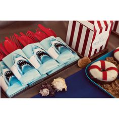 Jaws Shark Attack Summer Beach Printable Birthday by HelloMySweet, $23.00 http://www.hellomysweet.me