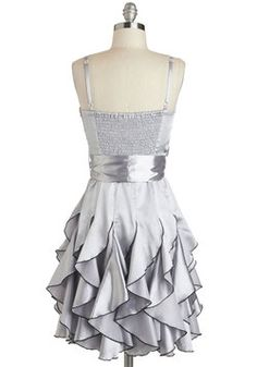 Who Wants to Be a Frillionaire Dress in Platinum, #ModCloth