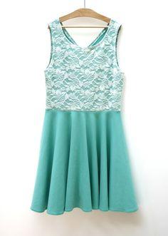 Me & Sew: MINT & LACE DRESS