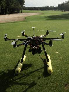 Preparing to film the El Camaleon golf course