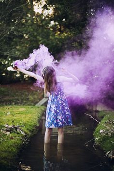 Love this smoke-bomb picture. That creek is so cute!