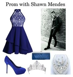 """""""Prom with Shawn Mendes"""" by neda-di ❤ liked on Polyvore featuring Sergio Rossi and GCGme"""