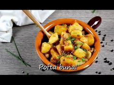 Cartofi taranesti - Reteta video - Laura Adamache - YouTube Romanian Food, Food Heaven, Sweet Potato, Potatoes, Cooking Recipes, Dishes, Vegetables, Easy Meals, Potato