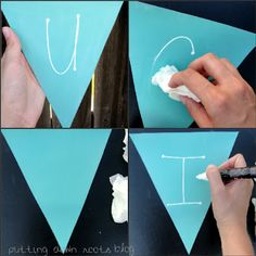 DIY Chalkboard Paint Bunting | A Mom Knows