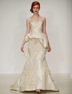 Stunning Modern Gown! Love! Amsale Lexington M623 Discount Designer Wedding Dress | www.yourdreamdress.com