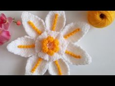 Watch The Video Splendid Crochet a Puff Flower Ideas. Phenomenal Crochet a Puff Flower Ideas. Crochet Flower Squares, Crochet Puff Flower, Crochet Flower Tutorial, Knitted Flowers, Crochet Flower Patterns, Crochet Designs, Knitting Patterns, Puff Stitch Crochet, Crochet Crocodile Stitch