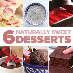 6 Naturally Sweet Desserts // #desserts #chocolate #icecream #healthy