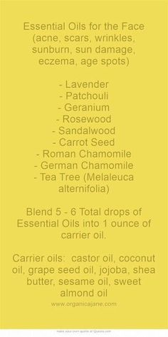 Essential oil for face